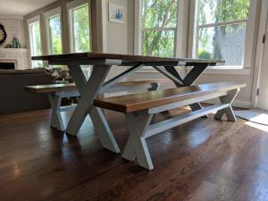 Swell Custom Dining Table Benches Boisecustomfurniture Com Machost Co Dining Chair Design Ideas Machostcouk